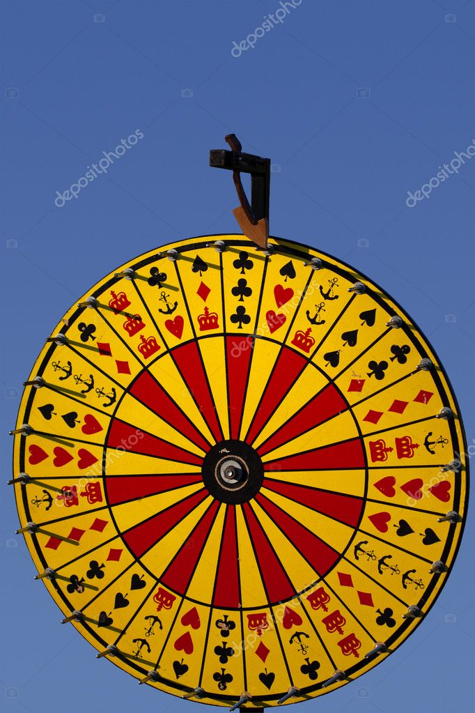 A full view photo of a Crown and Anchor &quot;Wheel of Fortune&quot; game.  Stock Photo #10083542
