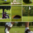 Golf Collage — Stock Photo