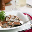 Stock Photo: Cost of living with spoonful