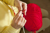 Knitting horizontal — Stock Photo