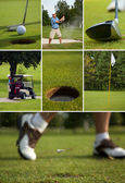 Collage di golf — Foto Stock