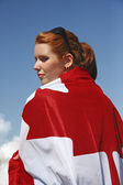 Canada Flag cape — Stock Photo