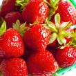 Strawberry basket Top View — Stock Photo