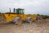 Mover vertedero basura — Foto de Stock