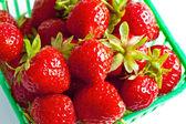 Strawberry basket Top View — Stock Photo
