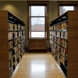 Stock Photo: Rows of book shelves