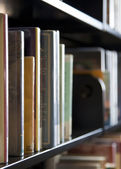 Books on shelf — Stock Photo