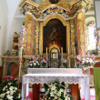 Altar of the saint Catherine church — Stock Photo