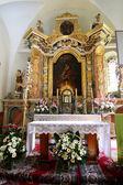Altar of the saint Catherine church — Stock Photo