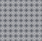 White motifs wallpaper on gray background — Stock Photo