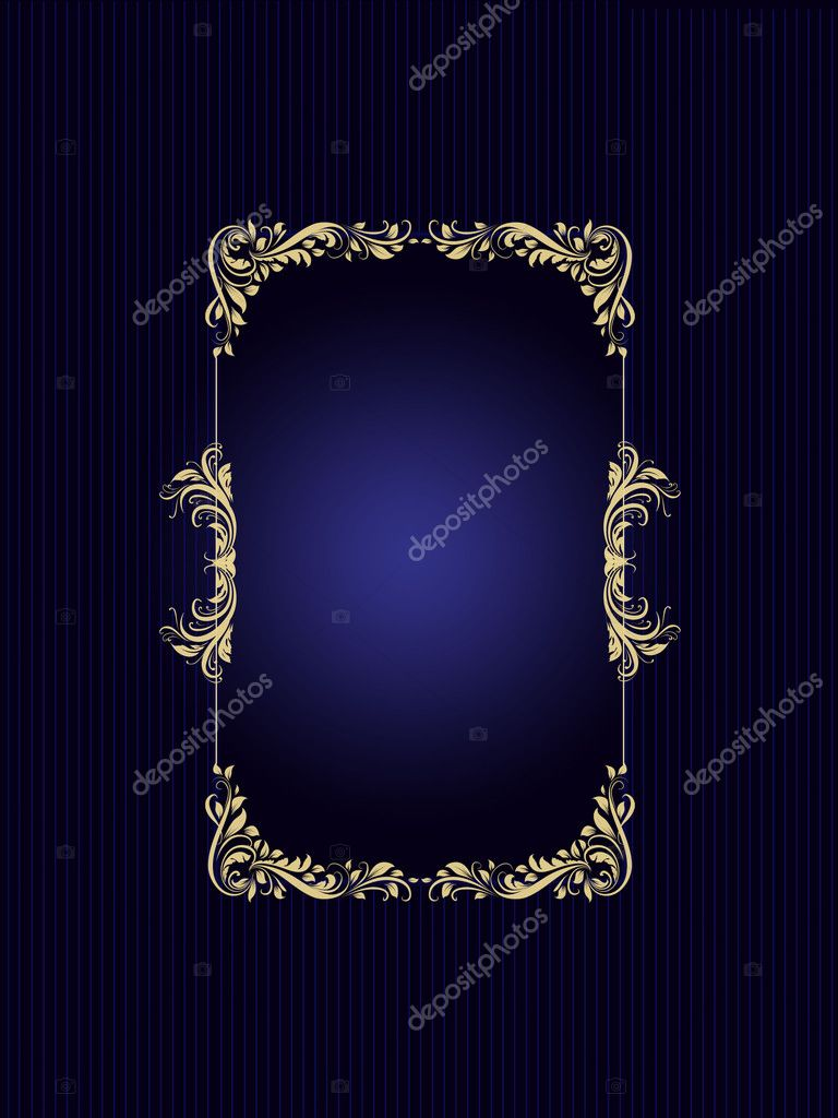Gold frame border background for poster or card — Stock Photo #10451076