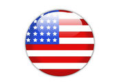 American flag button — Stock Photo