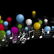 Music vector background — Stock Photo #9967203