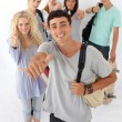 Teenagers going through high school — Stock Photo #10277890