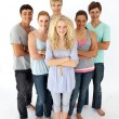 Confident teenagers standing in front of the camera — Stock Photo #10277938