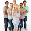 Stock Photo: Confident teenagers standing in front of the camera