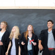 Group of celebrating after Graduation — Stock Photo