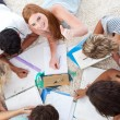 Group of Teenagers studying together — Stock Photo #10278304