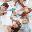 Group of Teenagers studying together — Stock Photo #10278323