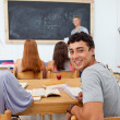 Teenager asking a question in the class — Stock Photo #10278786
