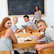 Teenagers studying in the high school — Stock Photo #10278790