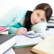 Annoyed teen girl studying — Stock Photo #10279419