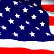 Highly Detailed 3d Render of an American Flag — Stock Photo