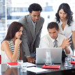 Business team working together with a project — Stock Photo #10279659