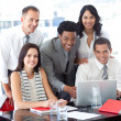 Royalty-Free Stock Photo: Multi-ethnic business team working together in office