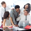Stock Photo: Successful business team working together in office