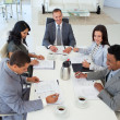 Business discussing in a meeting — Stock Photo #10279694