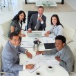 Smiling business working in a meeting — Stock Photo