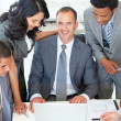 Business discussing in office a plan — Stock Photo #10279732