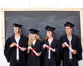 Group of celebrating after Graduation — Stock Photo