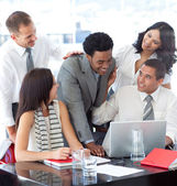 Successful business team working together in office — Stock Photo