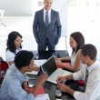 Business team studying a new business plan — Stock Photo
