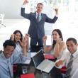 Business team in a meeting celebrating a success — Stock Photo