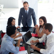 Business studying a new business plan — Stock Photo