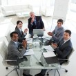 Stock Photo: International business team clapping