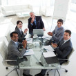 negocios internacionales equipo aplaudiendo — Foto de Stock