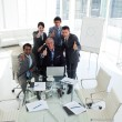 International business team with thumbs up — Stock Photo