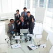 International business team with thumbs up — ストック写真
