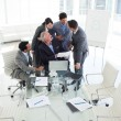 Intrnational business team studying a contract — Stock Photo
