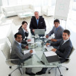 Stock Photo: High angle of a business team smiling at the camera