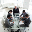 Multi-ethnic business team working together — Stock Photo