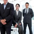 Royalty-Free Stock Photo: Businesswoman and her colleagues in a row