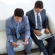 Two businessmen in waiting room — Stock Photo #10281102