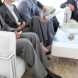 Business in a waiting room — Stock Photo