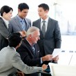 Multi-ethnic business team in a meeting — Stock Photo #10281384