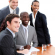 Confident multi-ethnic business in a meeting — Stock Photo